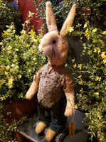 "#RM79 Primitive Standing Tattered & Torn Standing Boy Rabbit ""Wilson""  Made In USA) 🐰IN STOCK!"