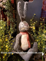 #TBH27 Large Primitive Grey Sitting Rabbit 🐇 (Made In USA ) Back In Stock!