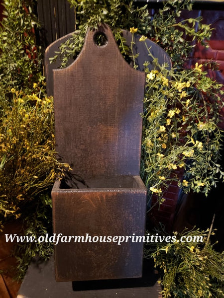 #PT133 Primitive Wood Wall Box (Made In USA)