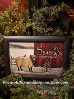 "#PCP2 Primitive Sheep ""Seasons Greetings"""