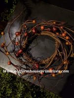 #PPCR8 Primitive Pumpkin Pod Fall Harvest Candle Ring