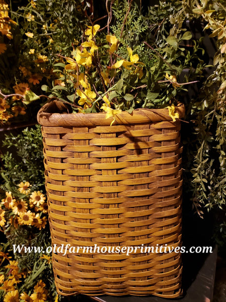 #PBBG877 Primitive Handmade Mustard Basket (Made In USA)