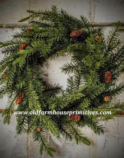 #RH65 Douglas Fir Wreath With Pine Cones #1 Seller