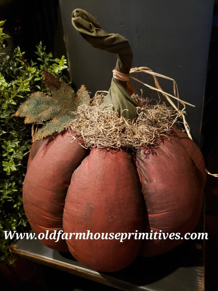 #PBOP2 Primitive Burnt Orange Hand Painted Pumpkin 🎃 (Made In USA)
