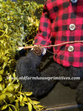"#CBM27 Primitive Fishing Bear Holding Fishing Pole ""Phil"" (Made In USA)"