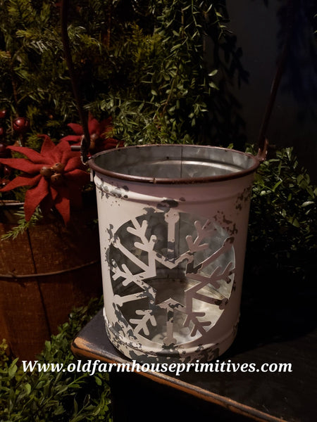 #PSFB1 Primitive Medium Snowflake Luminary Bucket