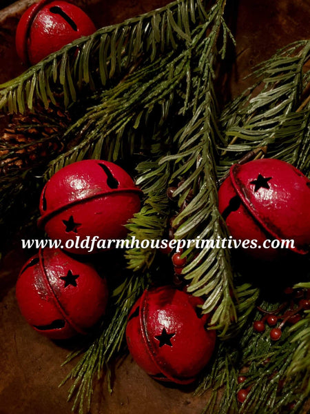 #BLRJB Primitive Large Red Jingle Bells