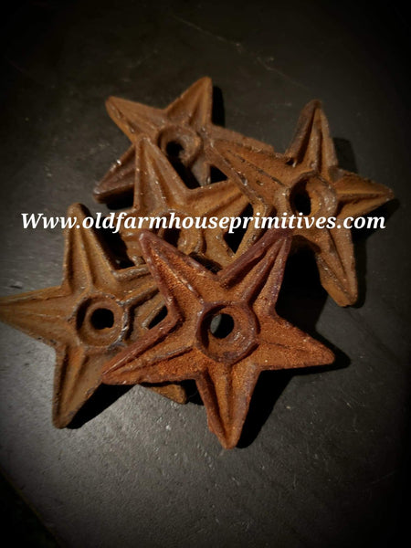 "#PSWF9  Primitive Scented Wax Barn Star ""Homestead""  Bowl Filler (Made In USA)"