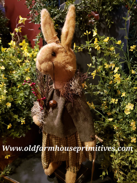 "#RM22 Primitive Tattered & Torn Standing Girl Rabbit ""Tina"" (Made In USA ) 🐰IN STOCK!"