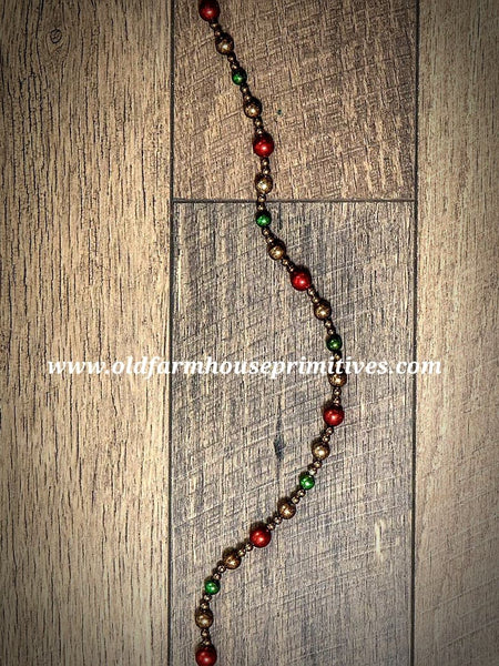 #RH24 Primitive Traditional Ball Christmas 🎄Tree Garland