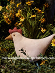 #NN5 Primitive White Hen (Made In USA)