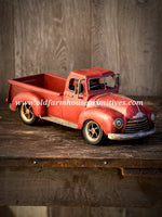 #RH26 Primitive Antique Vintage Red Truck Replica