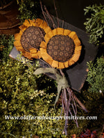 #TBHSF22 Primitive Sunflowers on Birch Stick 🌻 (Made In USA)