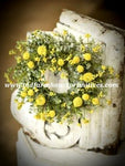 #GB7 Garden Bliss Yellow Candle Ring 14""