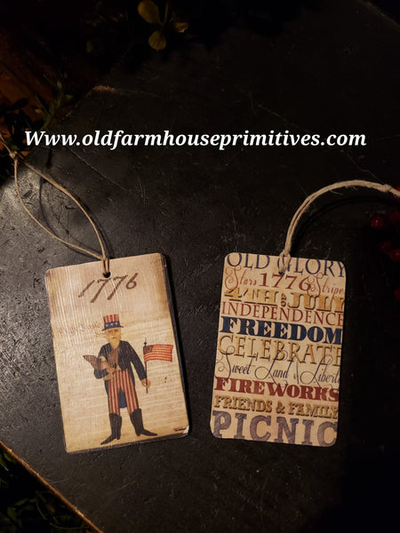 #PASOR Primitive American Ornaments Set/2