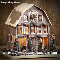 #RH174 Large Lighted Grey Barn