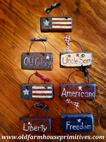 #BHAS Primitive Americana Hanging Ornaments (Made In USA)🇺🇸