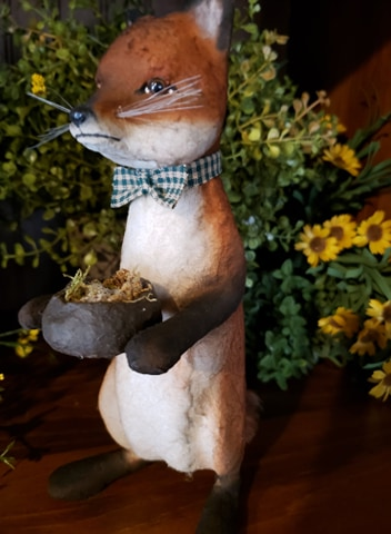 "#CY51 Craig Yenke Pippy The Fox ""Holding Nest Of Eggs"" (Made In USA)"