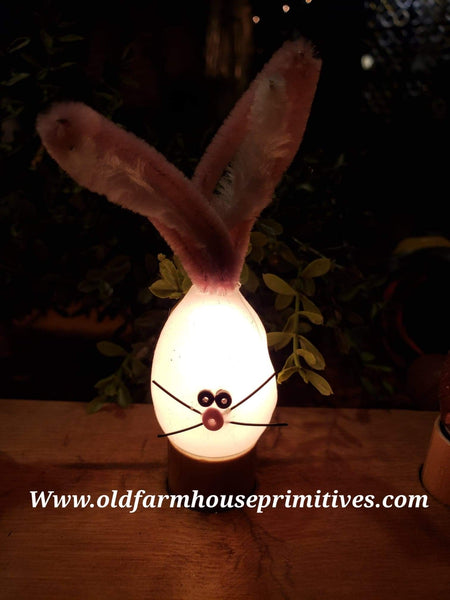 "#VJRBWB White ""Bunny Rabbit"" Furry Friend Silicone Bulb"