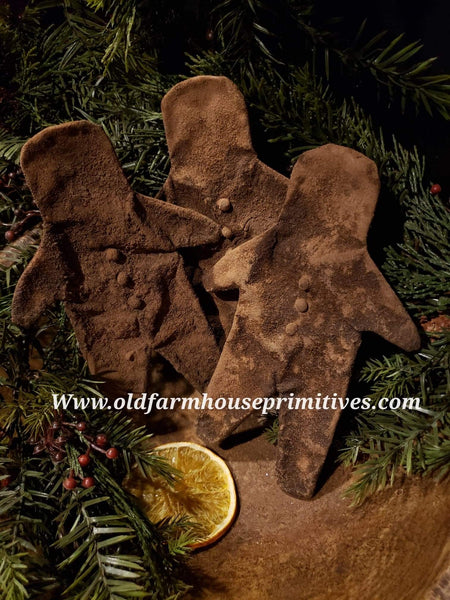 #PGBM2 Primitive Large Waxed Gingerbread Man (Made In USA)