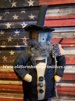#PCH5 Primitive Abe Lincoln Stump Doll (Made In USA)