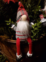 "#DLG2 Little Dangle Leg Gnome ""Plaid Hat"""