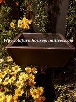 "#PPWS19 Primitive ""Black"" Deep Wood Trencher Box (Made In USA)"