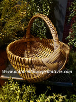 "#PBBGN58 Primitive Handmade ""Mustard"" Egg Basket 🧺 (Made In USA)"