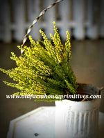 #LH48 Mini Yellow Hyacinth Bush 12""