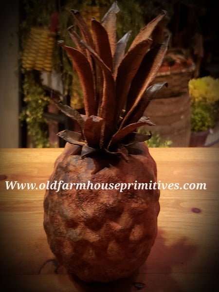 #PBCP Primitive Hand Painted Blackened Colonial Pineapple 🍍