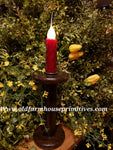 "#VJBRR Antique Spool Battery Operated Candle ""Ruby Red"" (Made In USA)"