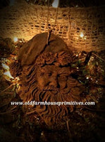 #BBW9 Blackened Beeswax Santa 🎅 Face Ornament