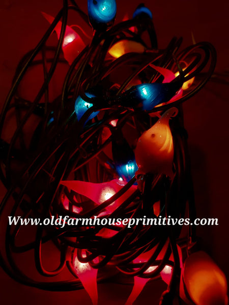 #ASL19 Primitive Americana String Lights Silicone Dipped 35 Count