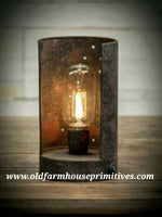 RH39 Primitive Antique Black Scoop Light