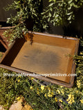 "#PPWSCB1 Primitive ""Mustard"" Mini Trencher Candle Box (Made In USA)"