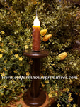 "#VJBRSR Antique Spool Battery Operated Candle ""Spicy Rosehips"" (Made In USA)"