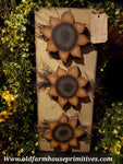 #PWSGS18 Primitive Hand Painted Wood Sunflower🌻 🌻 🌻Hanging   (Made In USA)