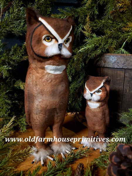 "#CY104 Craig Yenke ""Small Great Horned Owl"" 🦉 (Made In USA)"