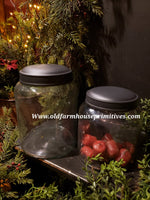 #PDARJ2 Primitive Antique Reproduction Jars Set/2 Black Lid