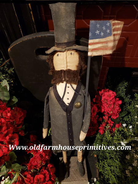"#NNA56 Primitive Americana Standing Abe ""Abraham Lincoln"" (Made In USA) MORE COMING SOON!"