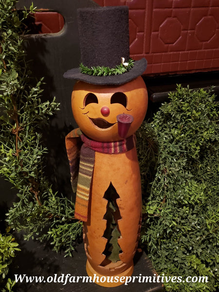 #MBFF2 Meadowbrooke Gourds Medium Lit Snowman ⛄️  (Made In USA)