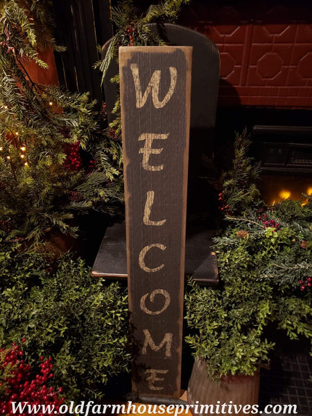 "#PSWS14 Primitive ""Welcome""  Sign (Made In USA)"
