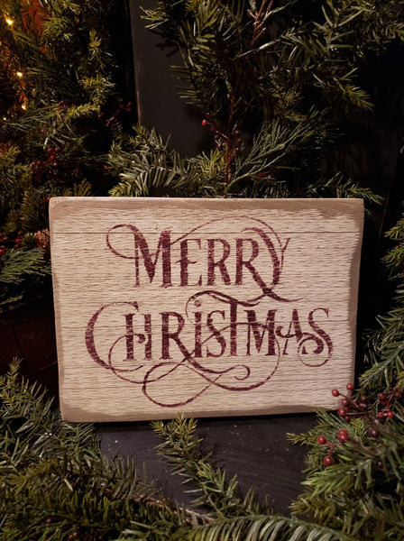 #PSWS2 Primitive Merry Christmas 🎅 Sign (Made In USA)