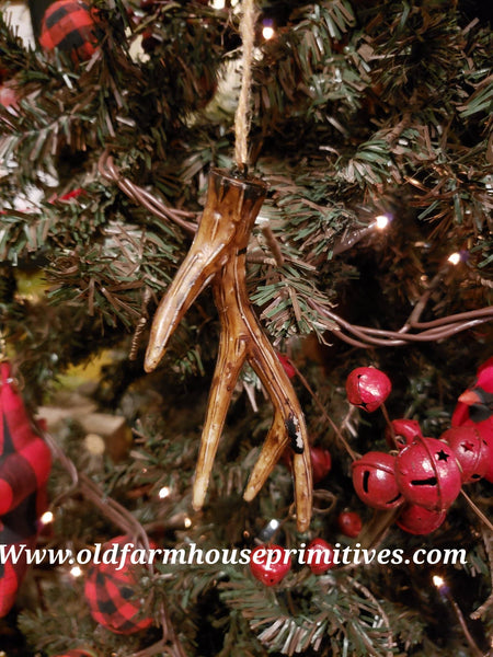 #NWL4 Northwoods Lodge Small Antler Ornament