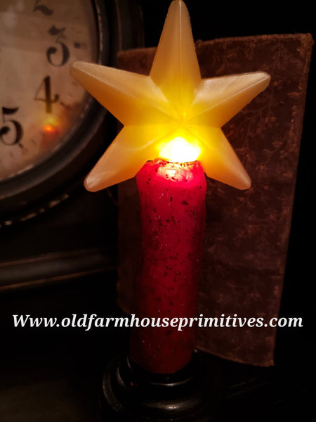 #VJS11 Primitive Red Star 🌟 Remote Candle (Made In USA)