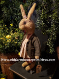 "#PTT32 Primitive Tattered & Torn Rabbits ""Mildred"" (Made In USA) BACK IN STOCK!"