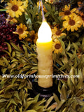 "#VJ15 Primitive Remote Battery Operated LED Candle ""Lemon Chiffon"" (Made In USA)"