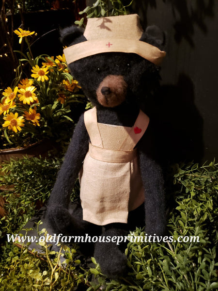 #CBMNB Primitive Nurse Bear (Made In USA)