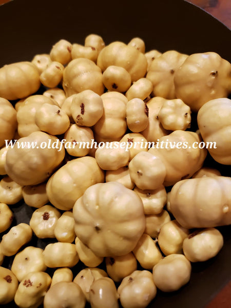 "#PHCP Primitive Mixed Cream Pumpkins "" Bowl Fillers"""