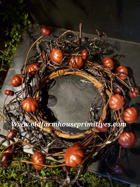 #SP177 Primitive Simply Pumpkin Candle Rings